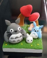 Totoro and friends by ILoveClayHouse