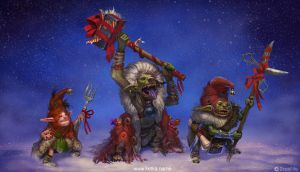 Christmas goblins by Ketka