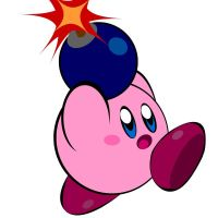 Kirby with a bomb by Hamii