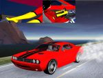 Spider Woman Muscle Car by Gustvoc