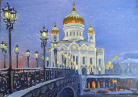 Cathedral of Christ the Saviour, Moscow by Ragini123