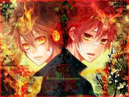 tsuna and enma by NaLuo8