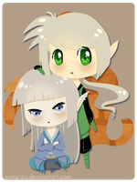 Commish: Maeron x Locien Chibi by Sumu-Zu
