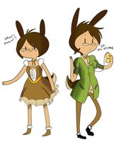 AT -- Bunny and BunBun by CinnamonCoffeeTreats
