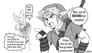 .:Link and Navi Bickering:. by SiscoCentral1915