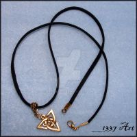 Gold Triad Necklace by 1337-Art