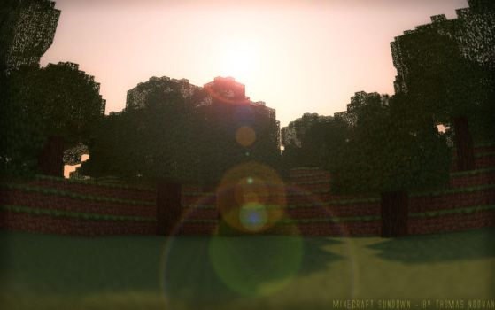 Minecraft Sundown by SilverSliver17