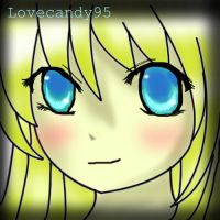 Blue eyes blond anime girl by lovecandy95