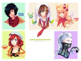 Bust Commission Batch 1 by chisacha