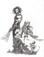 Wolverine and Witchblade by RyanVP