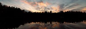 Sunset Panoram of Spider Lake by TheSeeker417