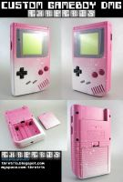 Custom Painted Pnk wnt Gameboy by Thretris