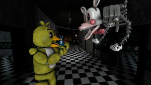 Mangle vs. Chica by Jupiterjumper2