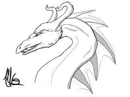 Dragon Headshot Practice by Sharkic-ii