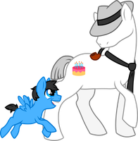 Pony Dadbert and little John by Stelera