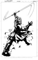 Darth Maul inks by JoeyVazquez