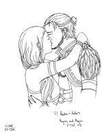 Anders and Hawke First Kiss by KK-Ska
