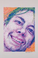 Pointillism Self-Portrait by designsbykari