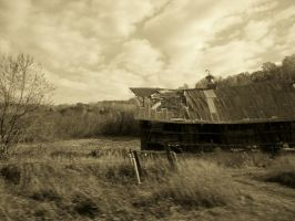 old barn drive by by AngiePip