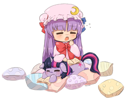 Twilight + patchouli chibis - reading session by RockuSocku