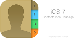 iOS7 Contacts Icon by ndenlinger