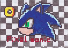 Pixel Sonic by Silver-Blaze-4-ever