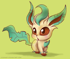 Chibi Leafeon by StePandy