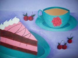 Cake and coffee by RobbinMarie