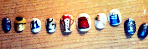 Dr Who Nail Art by ConsultingTimeLord96