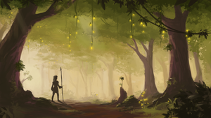 Forest Concept Art 2 by Alrynnas