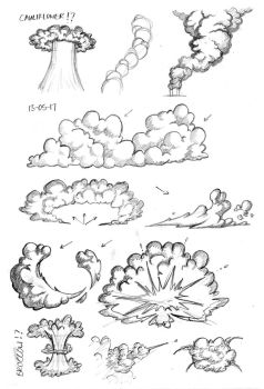 Sketches of Puffy Things (Clouds) by whymeiy