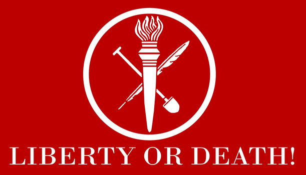 Red Flag of Liberty by Party9999999