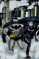 Batman and Catwoman by C4L