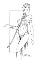 Princess Leia Slave Inks by devgear