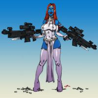 COMISH Mystique COLORS by jasinmartin