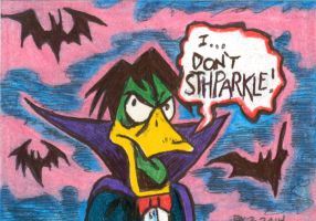 Count Duckula Sketch Card by ragzdandelion