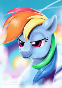 Rainbow dash (Requests) by Reillyington86