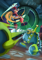 Megaman Zero 3- Glacier le Cactank by ultimatemaverickx