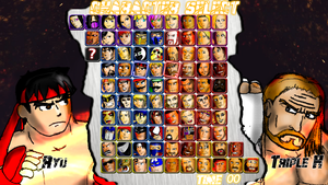 WWC X WWE - Character Select Screen by soryukey