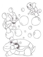 Squirtle's Evolutions by xmizuwaterx