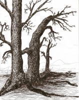 Quickly Drawn Trees by GoldenWordsOfLies