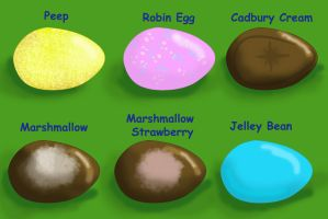 Easter Themed Mystery Eggs Ends Closed(1 for sale) by MLee-Adoptables