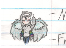 Chibi Arael (TFfan1's Character, Casual Version) by AmbiguouslyAwesome1