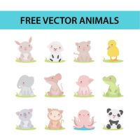 free vector animals by harridan