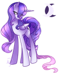 Alicorn OC - Crescentia by LethalAuroraMage