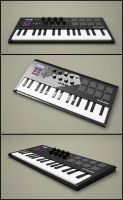 midi keyboard by SaphireNishi