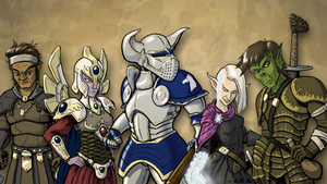 Dungeons and Dragons Party by GiantMosquito