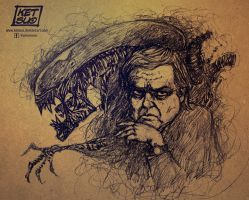 Alien-Giger sketch by KetsuoTategami