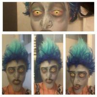 Hades-FIRST MAKEUP TEST by Lady-Ragdoll