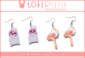 Acrylic earrings by TokiBuni